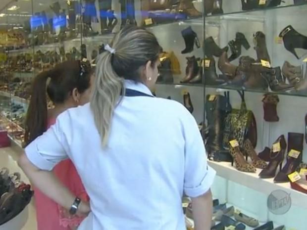 Comércio em Campinas  (Foto: Reprodução/ EPTV)