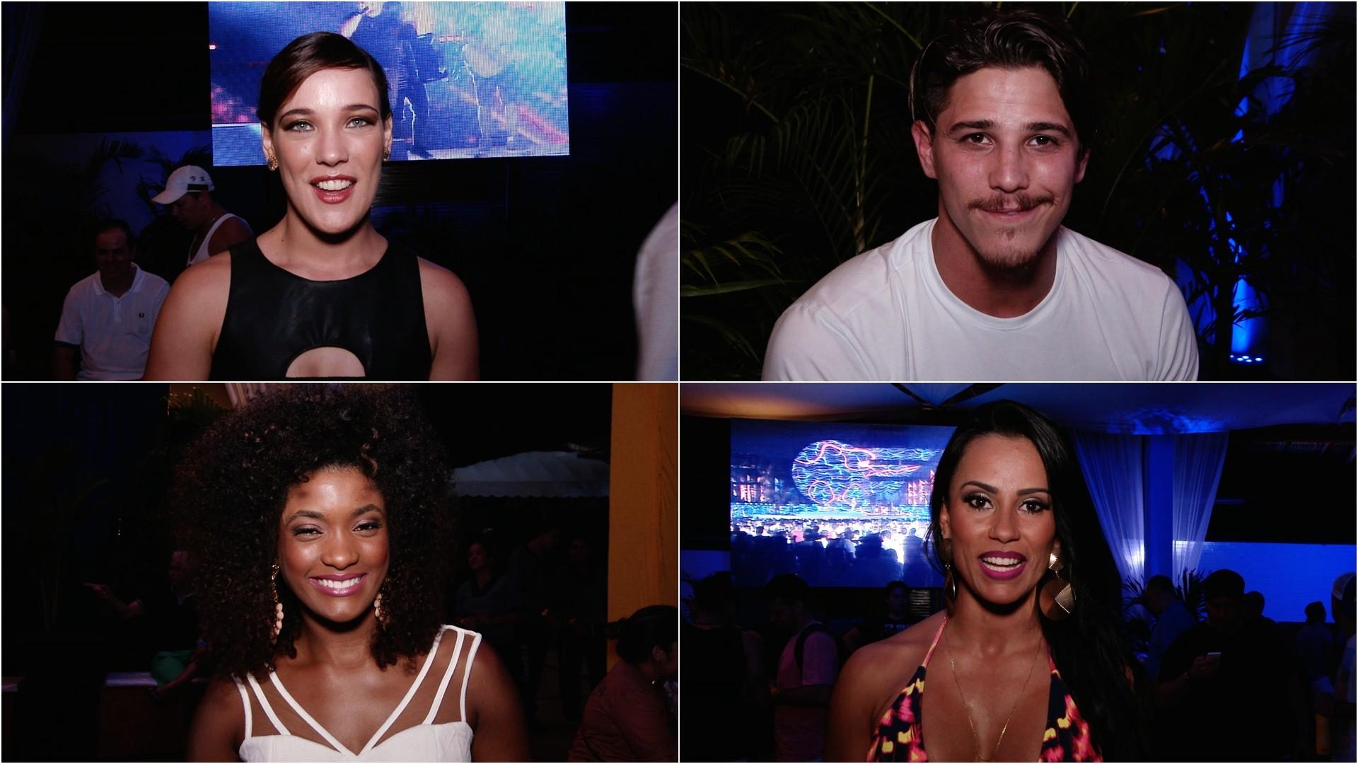 Entre os convidados estavam as atrizes Adriana Birolli, Erika Janusa, o ator Rômulo Neto e a ex-BBB e ex-dançarina do Aviões, Kelly Medeiros (Foto: Haroldo Braga / TV Verdes Mares)