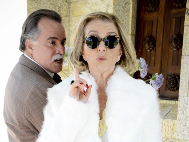 Otávio e Charlô não cansam da batalha (Foto: Guerra dos Sexos/TV Globo)