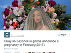 Perfil teria previsto gravidez de Beyoncé e outros acontecimentos