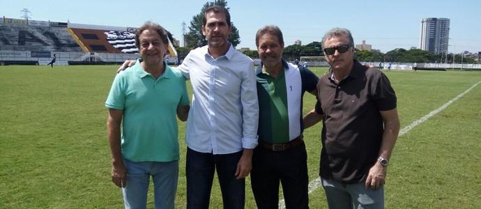 Brenno Spinelli Ademir Chiari Zé Lourenço Luciano Dias (Foto: Rafael Alves / Comercial FC)