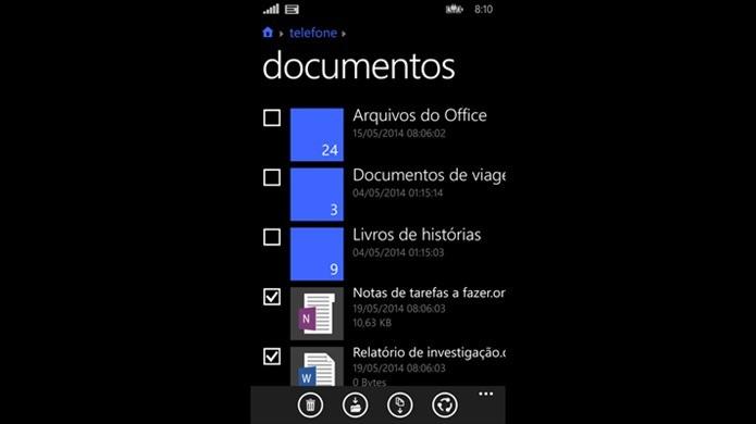 Aplicativo Arquivos é ideal para gerenciar todo o conteúdo do seu smartphone com Windows Phone (Foto: Divulgação)
