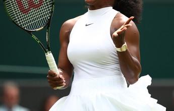 Serena bate suíça e dá primeiro passo em busca do hepta de Wimbledon