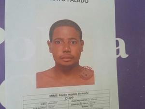 Divulgado retrato falado de suspeito de matar universitária no Costa Azul (Foto: Divulgação/DHPP)