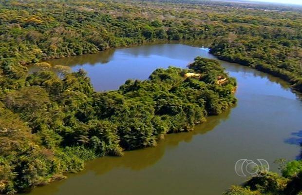 Reserva Lago do Cedro reúne mais de 72 lagos às margens do Araguaia (Foto: Reprodução/TV Anhanguera)