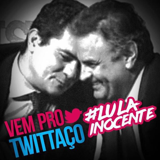 Imagem publicada pela CUT no Twitter após a condenação de Lula (Foto: Reprodução)