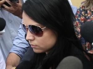 Raquel Policeno Rosa que aplicou hidrogel no bumbum de Maria José Brandão, em Goiânia, Goiás (Foto: Sebastião Nogueira/O Popular)