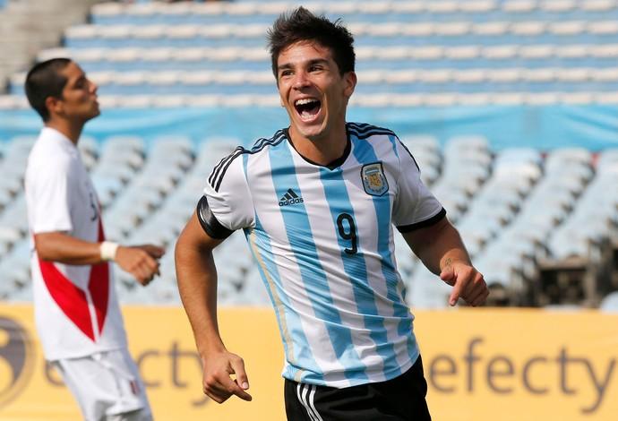 Simeone comemoração Argentina Sub-20 (Foto: Reuters)