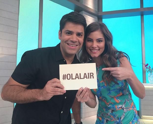 Bruna Hamú responde perguntas dos fãs no #OlaLair (Foto: Samir Miguel / Gshow)