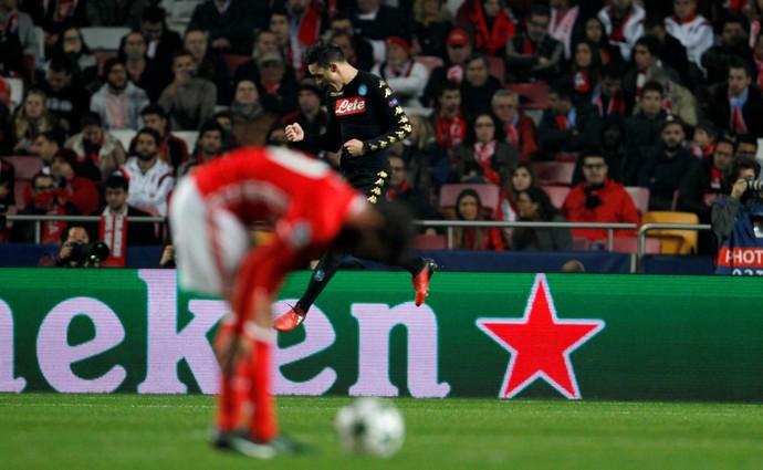 Benfica x Napoli comemoração (Foto: Reuters)