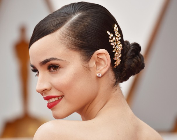 HOLLYWOOD, CA - FEBRUARY 26:  Actor Sofia Carson attends the 89th Annual Academy Awards at Hollywood & Highland Center on February 26, 2017 in Hollywood, California.  (Photo by Frazer Harrison/Getty Images) (Foto: Getty Images)