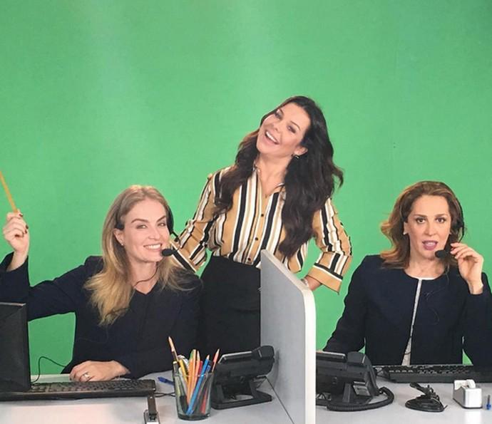 Angélica, Fernanda Souza e Claudia Raia em quadro divertido (Foto: Arquivo Pessoal)