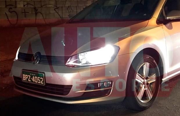Volkswagen Golf 1.0 TSI é flagrado em testes (Foto: Gabriel Aguiar/Autoesporte)