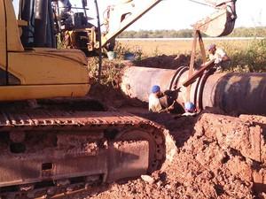 Rompimento se deu por oxidação dos tubos (Foto: Divulgação / Caema)
