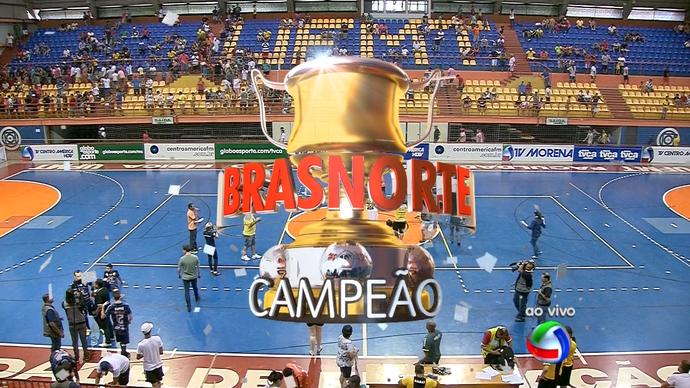Brasnorte, campeão da Copa dos Campeões de futsal 2015 (Foto: Reprodução/TV Morena)