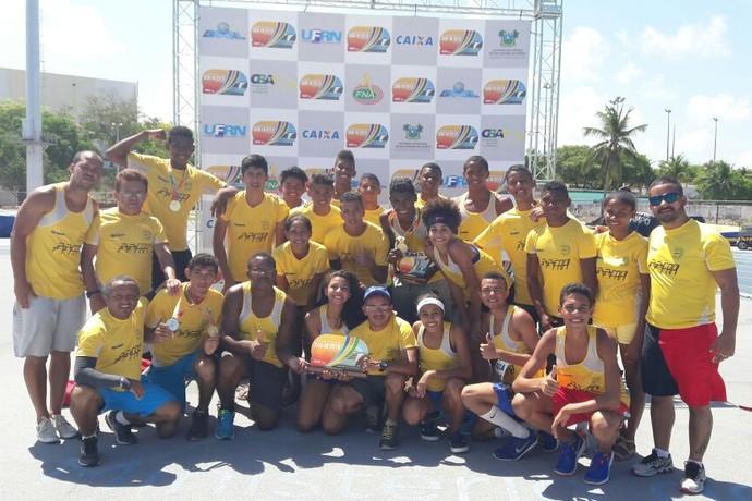 Delegação do Piauí no Norte/Nordeste sub-18 de atletismo 2016 (Foto: Josimar Sousa)