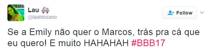 Tweet Marcos (Foto: Reprodução da Internet)