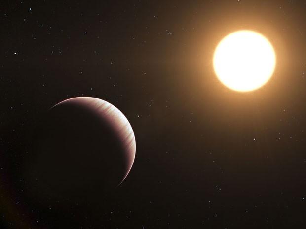 Representação artística do planeta Tau Bootis b (Foto: ESO/L. Calçada)