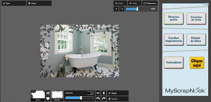 Pixlr é um editor simples de usar e inserir molduras nas imagens (Foto: Reprodução/Lívia Dâmaso)