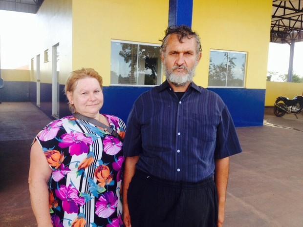 Irmãos Edemar e Lúcia Estefor se encontraram nesta terça-feira (23) em Macapá (Foto: Jéssica Alves/G1)