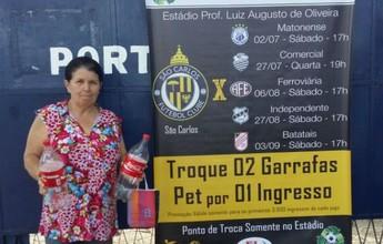 Jogo de ida entre São Carlos e Rio Claro tem promoção de garrafas pet