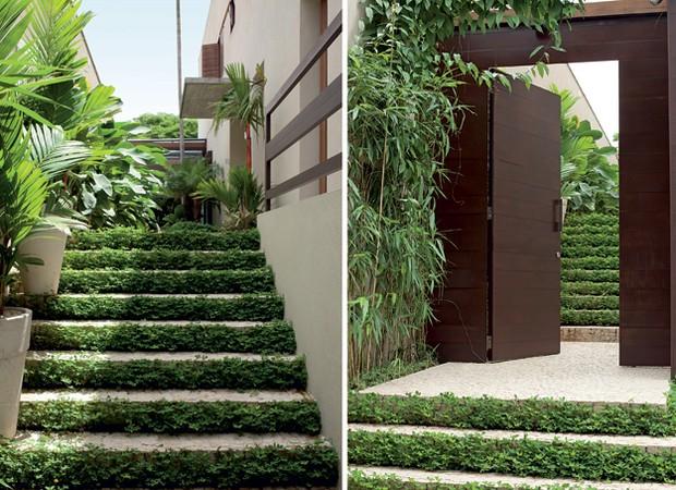 escada jardim madeira:Escadas_Grama sim, grama não (Foto: Edu Castello e Evelyn Müller)