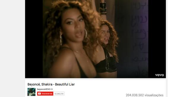 Beautiful Liar, de Beyoncé e Shakira (Foto: Reprodução/Youtube)