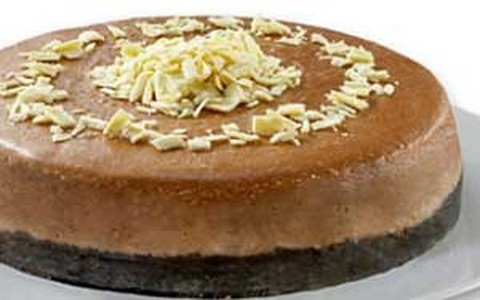Cheesecake de chocolate com café e cream cheese