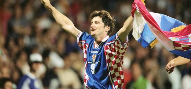 Davor Suker foi o grande nome da Croácia na Copa da França (Foto: Getty Images)