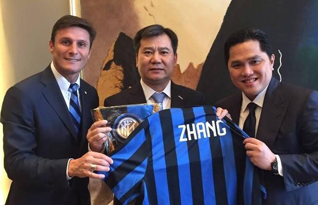 Coletiva de imprensa na China anuncia compra da Inter de Milão pelo grupo Suning (Foto: Divulgação)