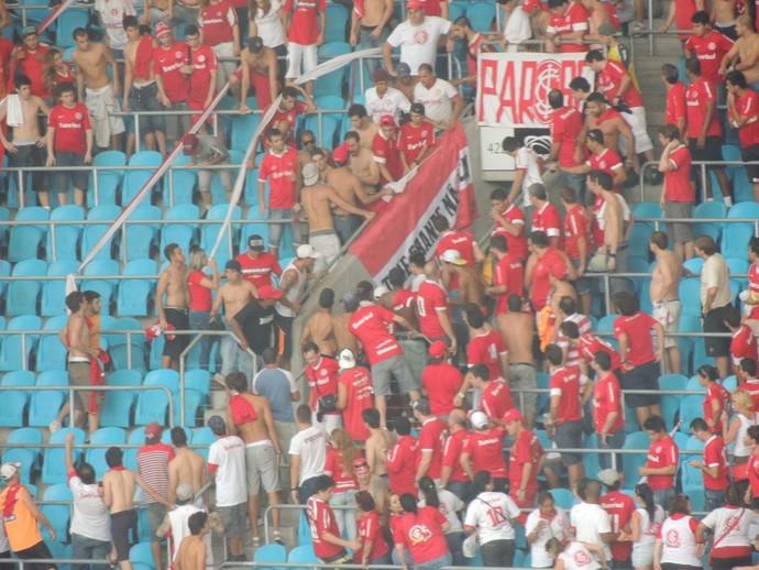 inter gre-nal confusão (Foto: Tomás Hammes/Globoesporte.com)