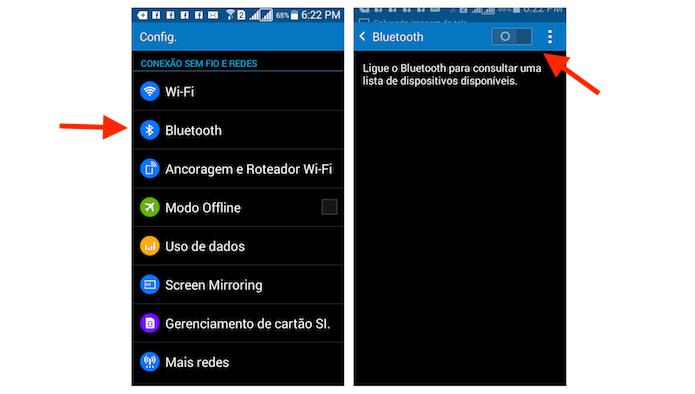Ativando a conexão Bluetooth do Galaxy Gran Prime Duos (Foto: Reprodução/Marvin Costa)