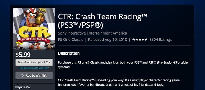 Faça o download de Crash Bandicoot (Foto: Reprodução/Murilo Molina)