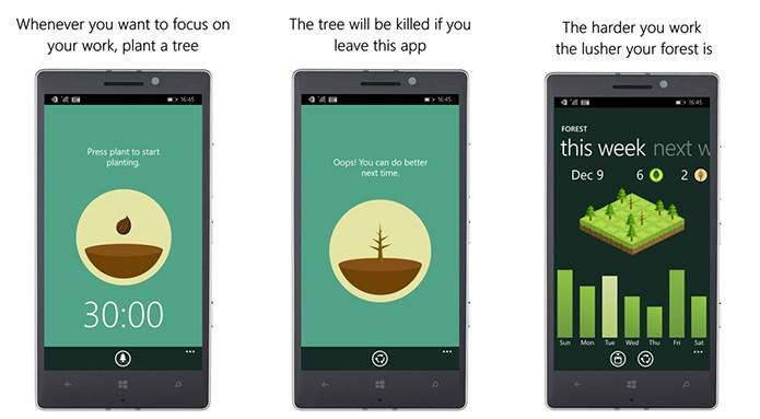 Forest livra usuário do vício em smartphones de forma criativa e leve (Foto: Divulgação/Windows Store)