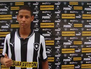 Time do Botafogo na estreia da Copa SP em Taubaté (Foto: Filipe Rodrigues/ Globoesporte.com)