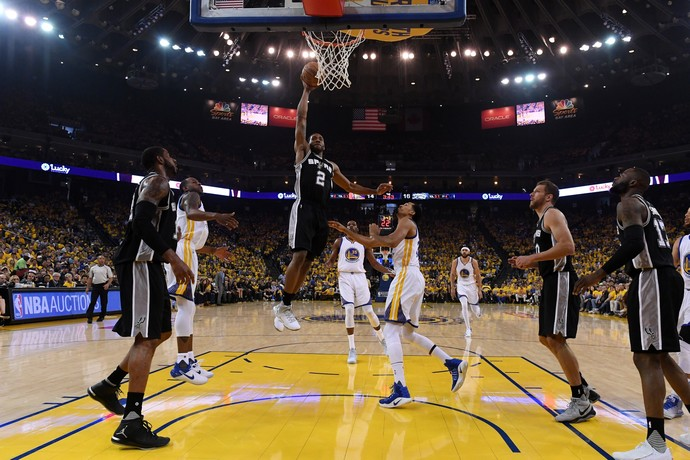 Golden State Warriors x San Antonio Spurs, Kawhi Leonard (Foto: Getty Images)