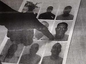 Reconhecimento de José Pereira na delegacia, Bahia (Foto: Reprodução)