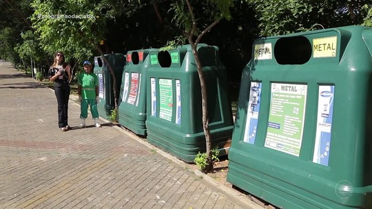 Contentores ajudam na coleta de lixo seletiva em Teresina