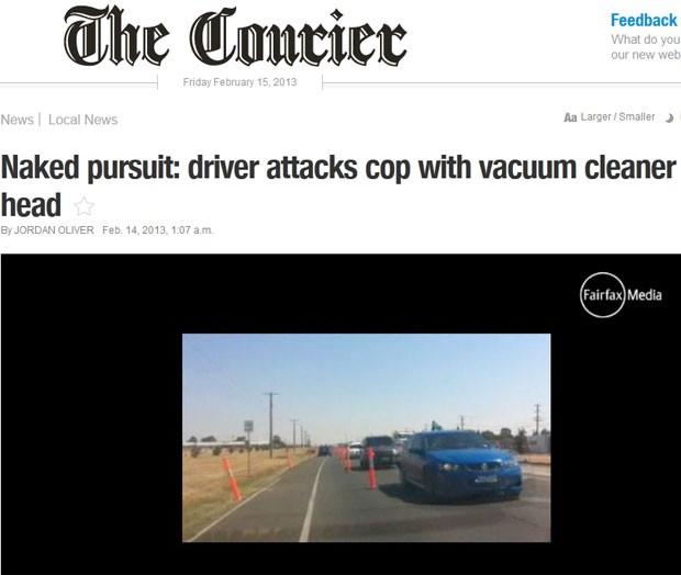 Motorista nu foi perseguido por 25 quilômetros pela polícia  (Foto: Reprodução)