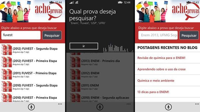 AcheProvas é um aplicativo que ajuda estudante a encontrar provas antigas (Foto: Divulgação/Windows Store)