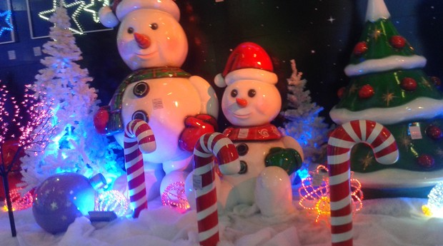 A Efeittos reforça o clima natalino com seus produtos (Foto: PEGN/Isabela Moreira)