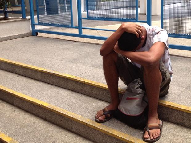 Reynaldo Machado, de 17 anos, foi informado que faria prova em Mogi das Cruzes, mas local correto era em São Paulo (Foto: Gabriela Gasparin/G1)