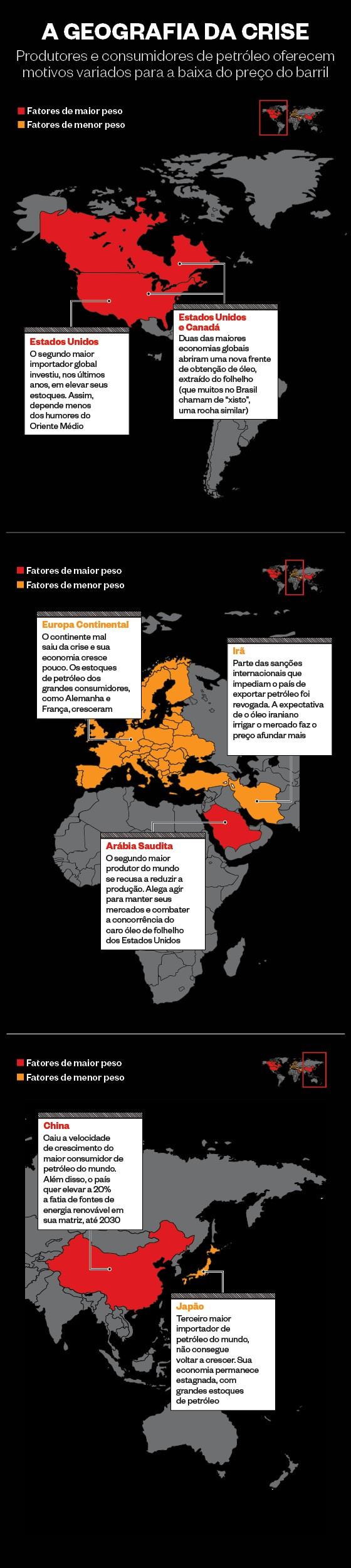 A geografia do petróleo barato (Foto:  )