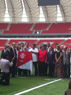 Presidente Dilma Rousseff visita o estádio Beira-Rio nesta quinta-feira (Foto: Luiza Carneiro/GloboEsporte.com)
