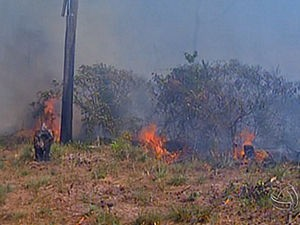 Incêndio Tangará da Serra (Foto: Reprodução/ TVCA)