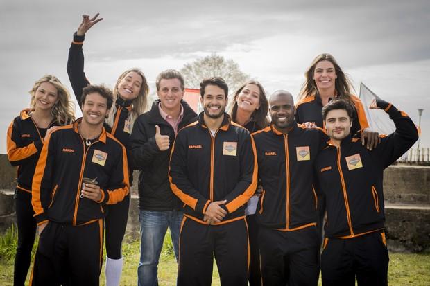 Participantes do quadro Desafiados, do programa Caldeirão do Huck (Foto: Globo/João Cotta)