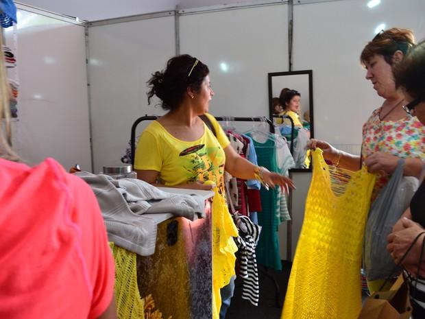 Grupo saiu de Santa Catarina para conferir a 2ª edição da Fenat Verão de Monte Sião, MG (Foto: Daniela Ayres/ G1)
