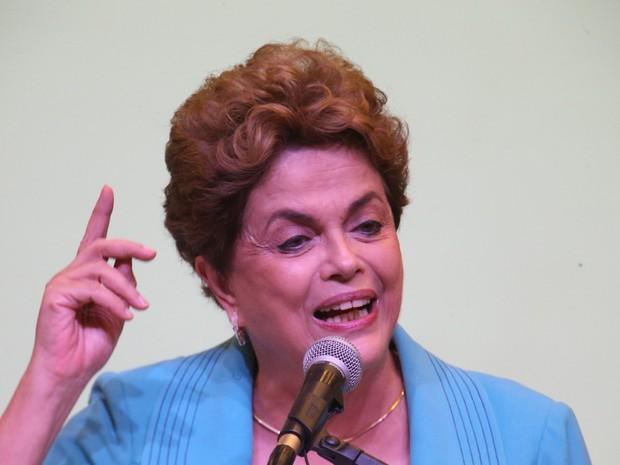 Dilma discursa durante a Conferência Nacional de Direitos Humanos, nesta quarta (27) em Brasília (Foto: Dida Sampaio/Estadão Conteúdo)