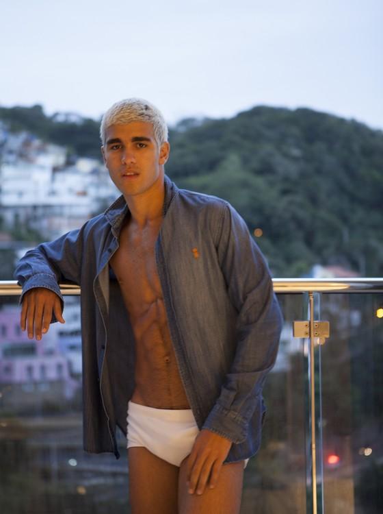 Pietro Baltazar: o modelo é o nome da vez no disputado mundo fashion  (Foto: Fabricio Pimentel)