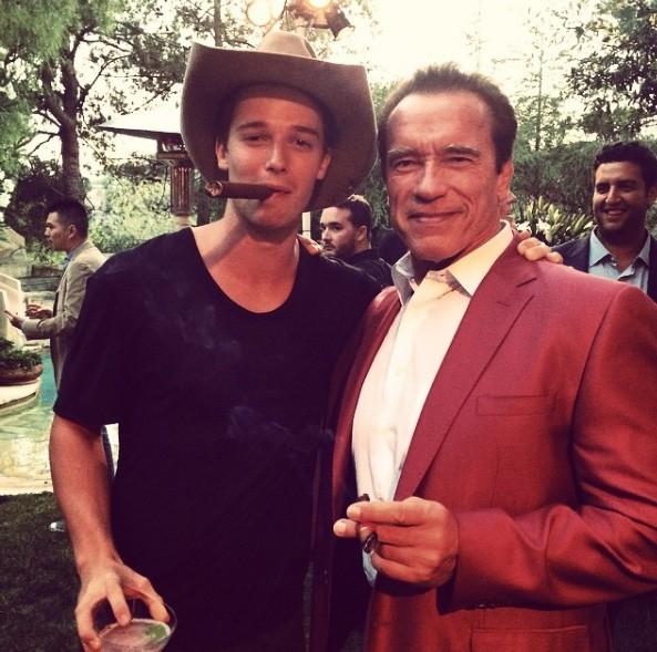 Patrick e Arnold Schwarzenegger (Foto: Instagram)